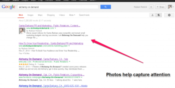 Google Authorship Screenshot