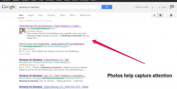 Google Authorship Screenshot