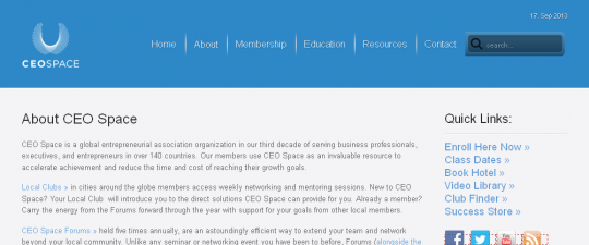 CEO Space Ad Copy