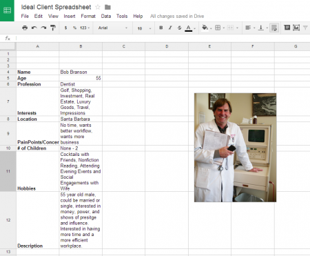 Ideal Client Spreadsheet