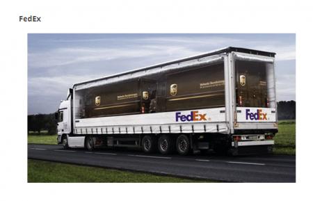 Fed Ex Eats UPS Ad