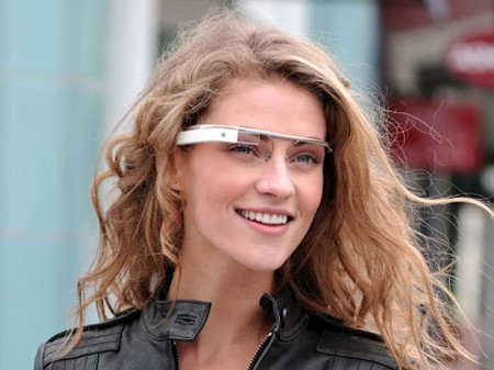 Pretty Girl with Google Glasses