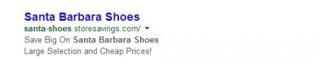 Santa Barbara Shoes PPC
