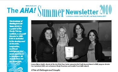 AHA! Summer Newsletter
